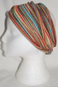 New Tie Dye Hair Head Band Rasta Dreads Fairly Traded Rainbow Rebel Ethnic