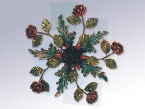 Plafoniere Rosse Da Esterno : Plafoniera lampadario con rose e foglie in ferro battuo una luce
