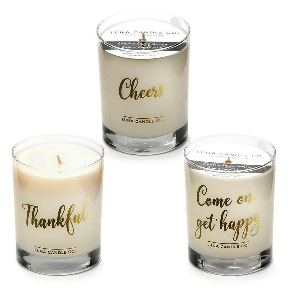 Merci Beaucoup  Soy Wax Scented Luxurious Candles - 11 Oz Jar (3 candle set)