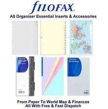 Filofax A5 Organiser Essentials Accessories Insert Refill Replacement Pack Paper