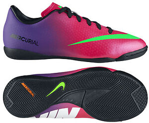 98cf59167 NIKE MERCURIAL VICTORY IV IC INDOOR SOCCER SHOES FOOTBALL Fire Berry ...