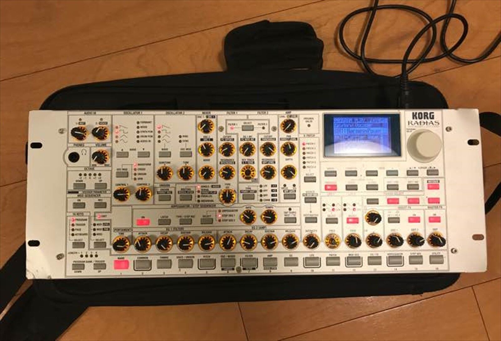 Used KORG RADIAS analog modeling syntheGrößer with soft case F S JAPAN