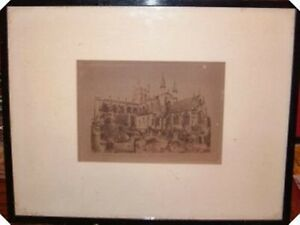 Framed-Glazed-Antique-Sepia-Print-Chester-Cathedral-Print-Chester-Prints