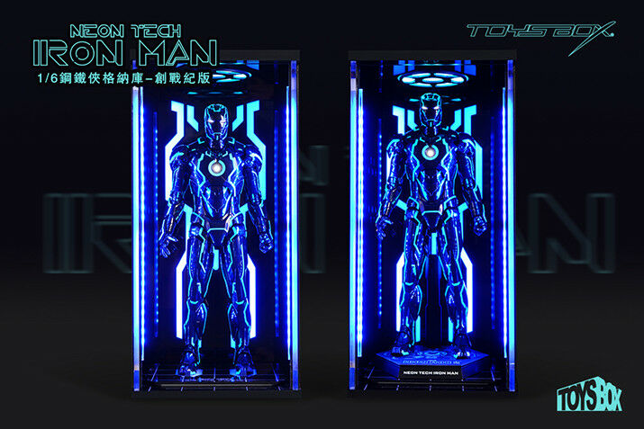 TOYS BOX 1/6  Hangar 4.0 Tron Edition Box Case Model For  Iron Man MK4 Figure