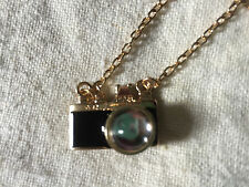 Pendant Photo Camera with Chain Necklace Jewelry Funny Gift