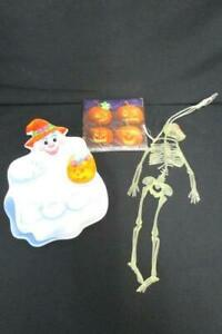 Lot-of-3-Halloween-Decorations-Skeleton-Ghouls-Napkin-Ghost-Plate-Party