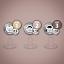 Bavoirs-sucettes-tetines-2-Pack-Toutes-les-tailles-20-Couleurs miniature 4