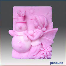 egbhouse, Frosty, Fairy of the Snowman 2D Silicone Soap / Plaster / clay Mold