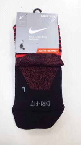 New Nike Elite-Cushioned Basketball Crew Socks Size L 8-12 XL 12-15