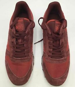 Men's Leather Clip Reebok Classics AQ9793- Flash Red- Size 11