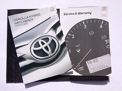 Genuine New Toyota Corolla Hayon 2019 guide de l/'utilisateur//Service et Garantie Livre