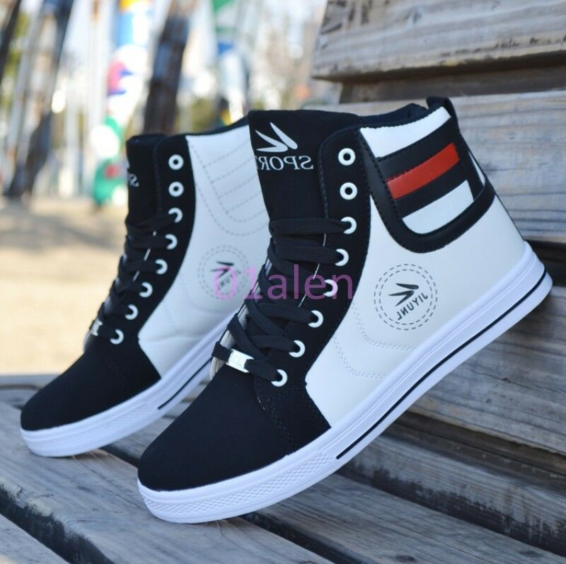 Mens Leisure Breathable Lace up Sneaker Trainer Boots Plimsoll shoes Hot Fashion