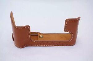 Retro-Vintage-Leather-Half-Camera-Bottom-Case-For-Fujifilm-Fuji-XT10-X-T10-Brown