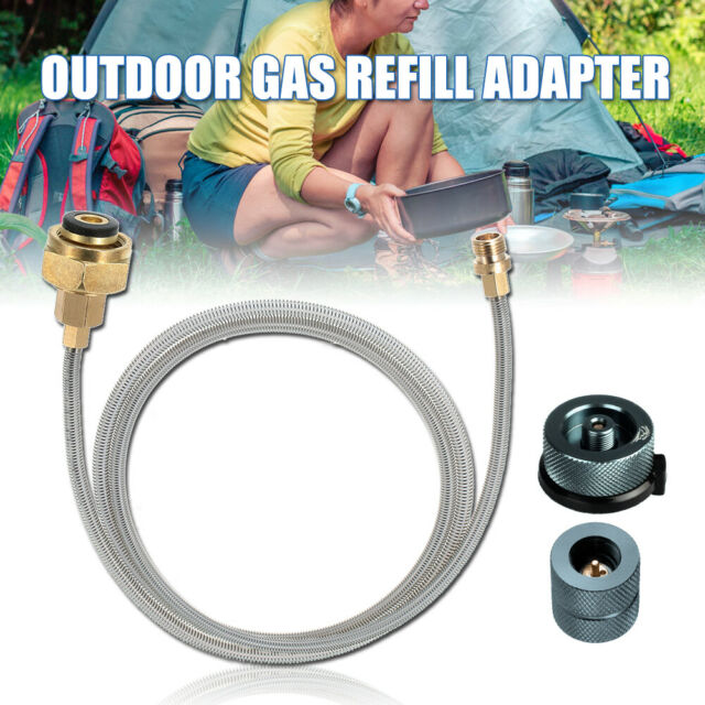 Stove Camping Gas Propane Refill Adapter LPG Flat Cylinder Tank Coupler Tool New