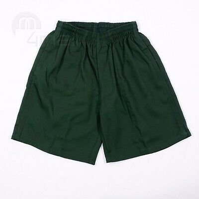 Boy's Girl's Kid's School Uniform Shorts Sz Pants Sports Wear Elastic Waist