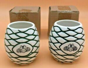 Lot Of 2 Patron Tequila Tiki Mug Agave Ceramic Cups