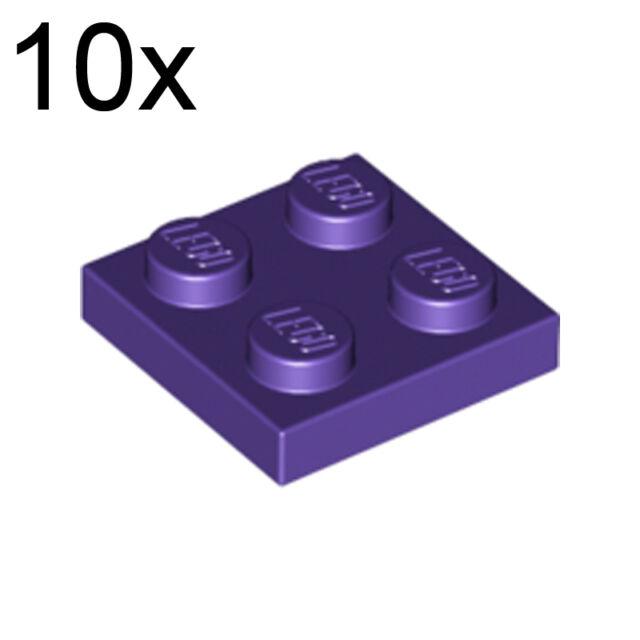 Lego 4 Dark Purple 2x2 brick block NEW
