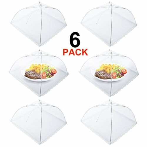 Homealexa 17 Inch Large and Strong Collap Mesh Food Nets Fruit Cover Net 6 Pack