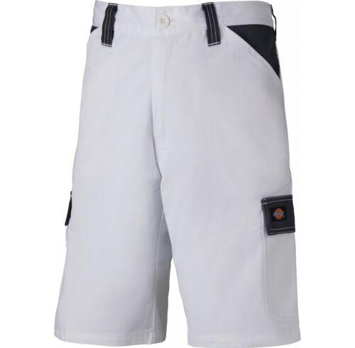 Dickies Pantaloncini di lavoro quotidiano bianco e grigio con tasche multiple varie dimensioni