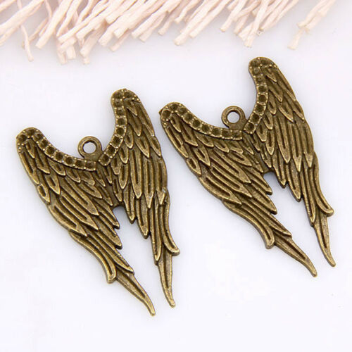 Wholesale 15pcs//50pcs bronze plaqué Wing Pendentifs 40x24mm 1A1181