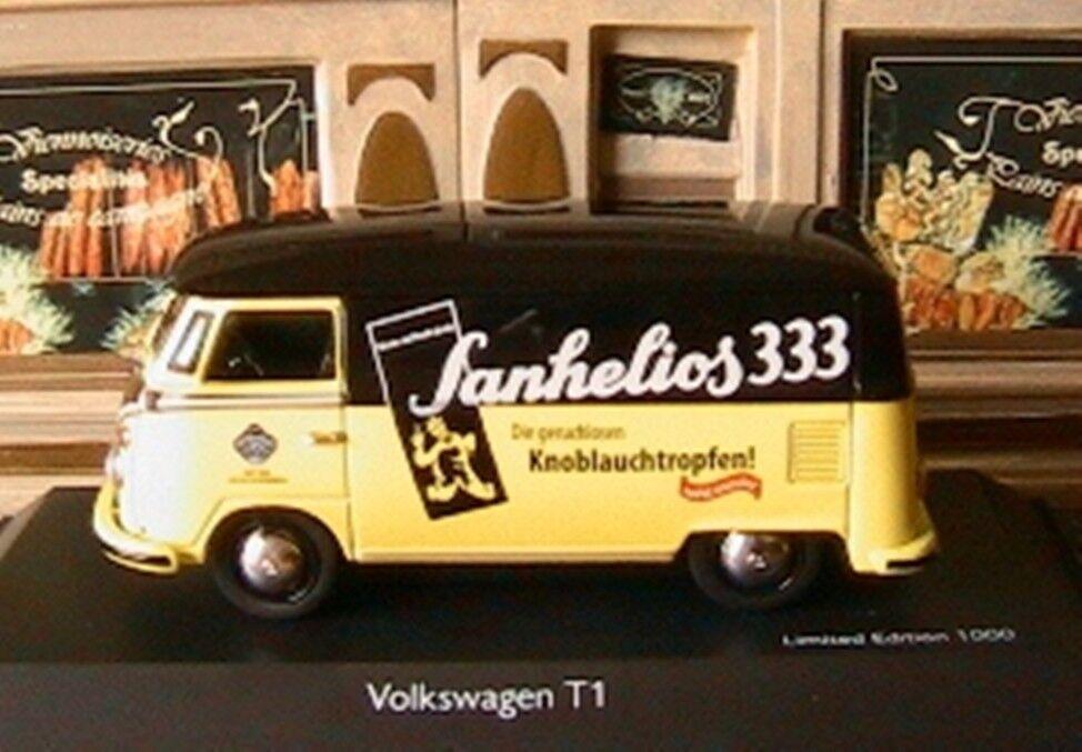 VW VOLKSWAGEN T1 KASTENWAGEN SANHELIOS 333 SCHUCO 03078 1 43 ECHTEN NEW TOLE