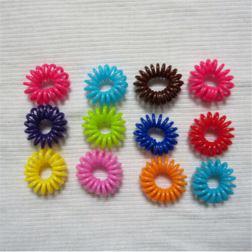 20x Womens Girls Elastic Hair Ties Band Rope Ponytail Phone Wire Hair Band JDUK