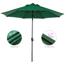 9FT Patio  Umbrella w/ Tilt & Crank for Garden Outdoor Parasol Sun Shelter Table