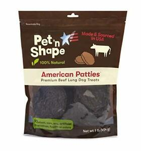 Pet 'n Shape All American Beef Lung Patties Dog Treats – Made and Sourced in T..