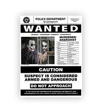 Joker Batman Dark Knight Rises Wanted Poster Movie Prop Replica Print Ledger