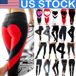 Ladies-Women-Yoga-High-Waist-Leggings-Trousers-Fitness-Sports-Running-Gym-Pants