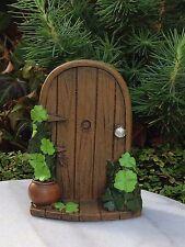 Miniature Dollhouse FAIRY GARDEN ~ St. Patrick's Day Door with  Shamrocks ~ NEW