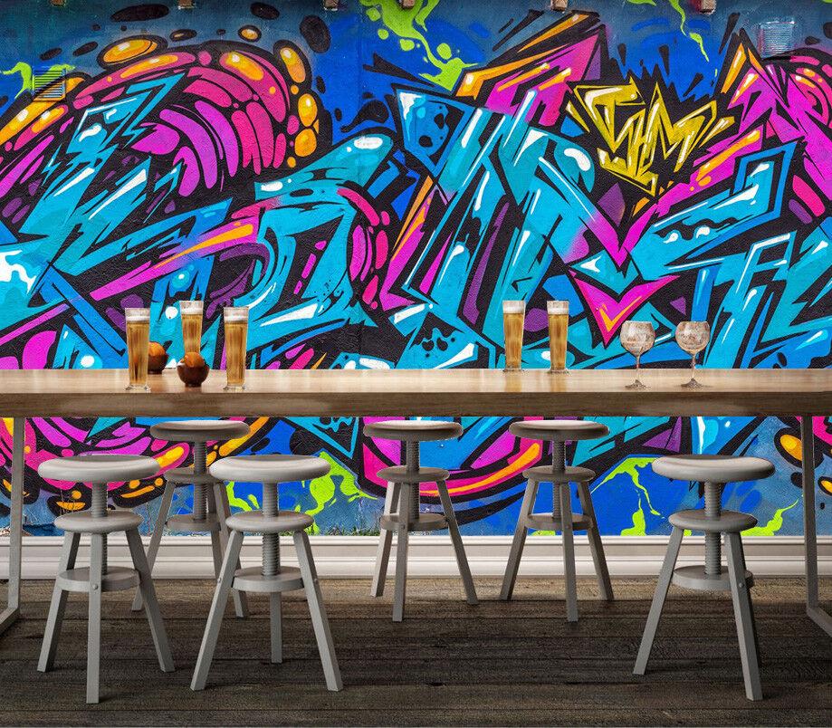 3D Hyun Cool Graffiti 7 Wall Paper Murals Wall Print Wall Wallpaper Mural AU Kya