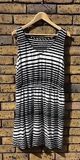 Size XL Merona Black & White Striped Slouch Dress
