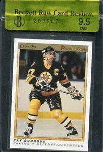 1990-91 opc premier #9 RAY BOURQUE boston bruins BGS 9.5 RCR