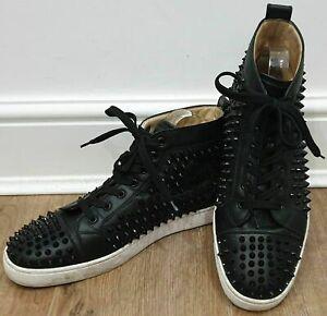 basket louboutin homme cuir noir