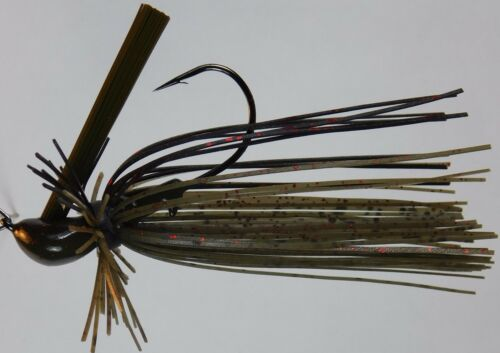 Bob4Bass Light Wire 60 Strand Finesse MOP Skirted DC Arky Jig w//Mustad Hook