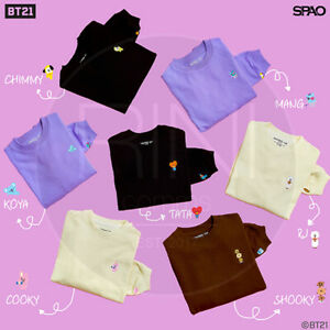 BTS-BT21-Official-Authentic-Goods-Loose-Fit-Long-Sleeve-T-shirt-By-SPAO-Track