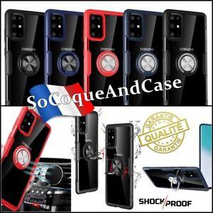 Coque Samsung Galaxy J6 avec Anneau Kickstand Support Bague Silicone Soft TPU
