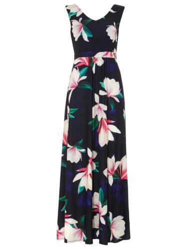 ex Phase Eight Magnolia Print Maxi Summer Holiday Dress