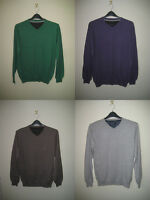 Jeff Banks Designer V Neck Jumper Small - 5xl 8 Colours Cotton & Cashmere