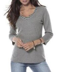 4fa5ff3c238a Corley Damen 2-in-1-Shirt 3 4 Arm Bluse Pullover Tunika grau 709639 ...