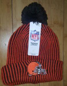 cf40cb64 Details about NFL Kids CLEVELAND BROWNS KNIT POM CAP WINTER HAT STM GIFT  Orange Brown Youth