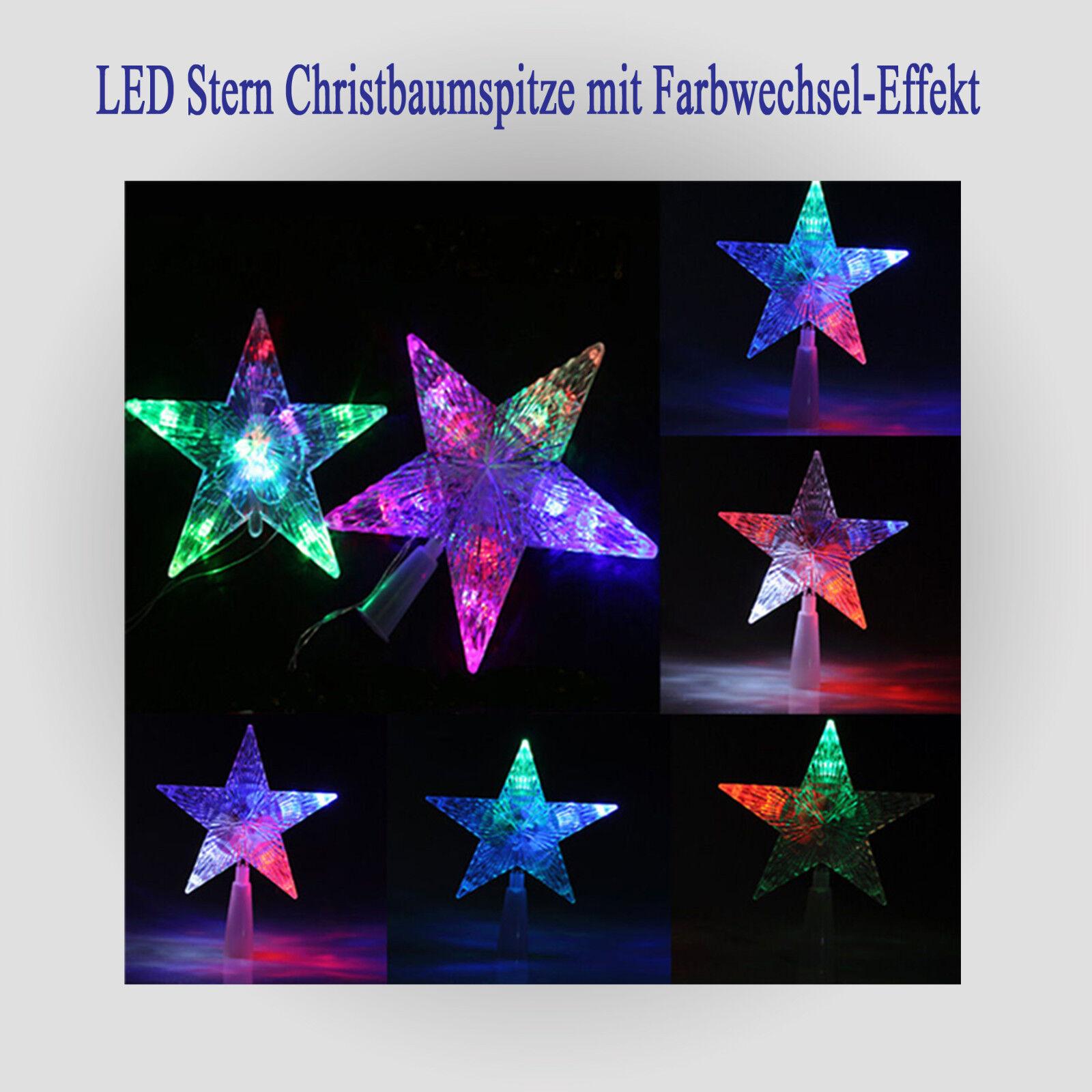 Stern weihnachten tannenbaum spitze dekostern weihnachtsdekoration baumspitze ebay - Led baumspitze stern ...