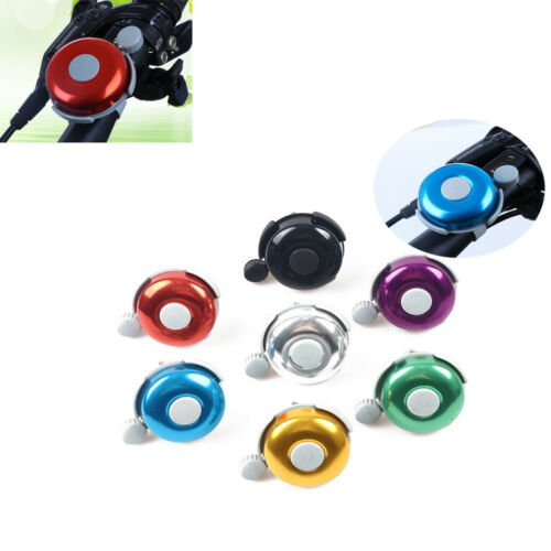 New Safety Cycling Bicycle Handlebar Metal Ring Black Bike Bell Horn Sound Alarm