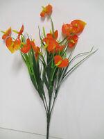 Dekoration Künstliche Blumen Anthurien Busch Anthurie Orange Künstlich Wie Echt