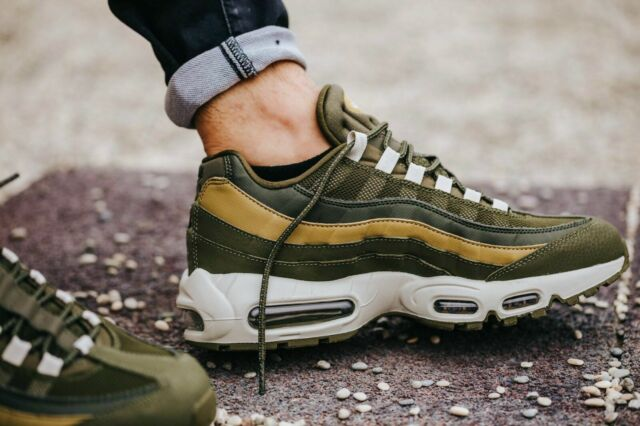 006a11a6a7 BNWB & Authentic Nike ® Air Max 95 Essential Olive & Golden Trainers UK ...