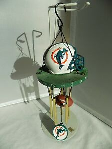 Miami-Dolphins-Football-Team-12-034-Wind-Chime-Nice-Gently-Used-Condition