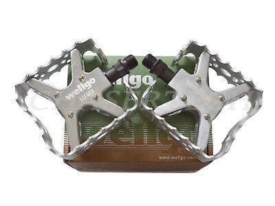"New Wellgo LU-313 BMX Bicycle Bike Bear Trap Style Pedals 9//16/"" Black"