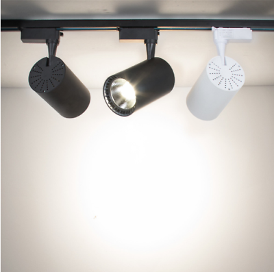 10w 15w 20w 30w Led Track Lighting Fixture Ceiling Wall Lamp Rail Light Ebay