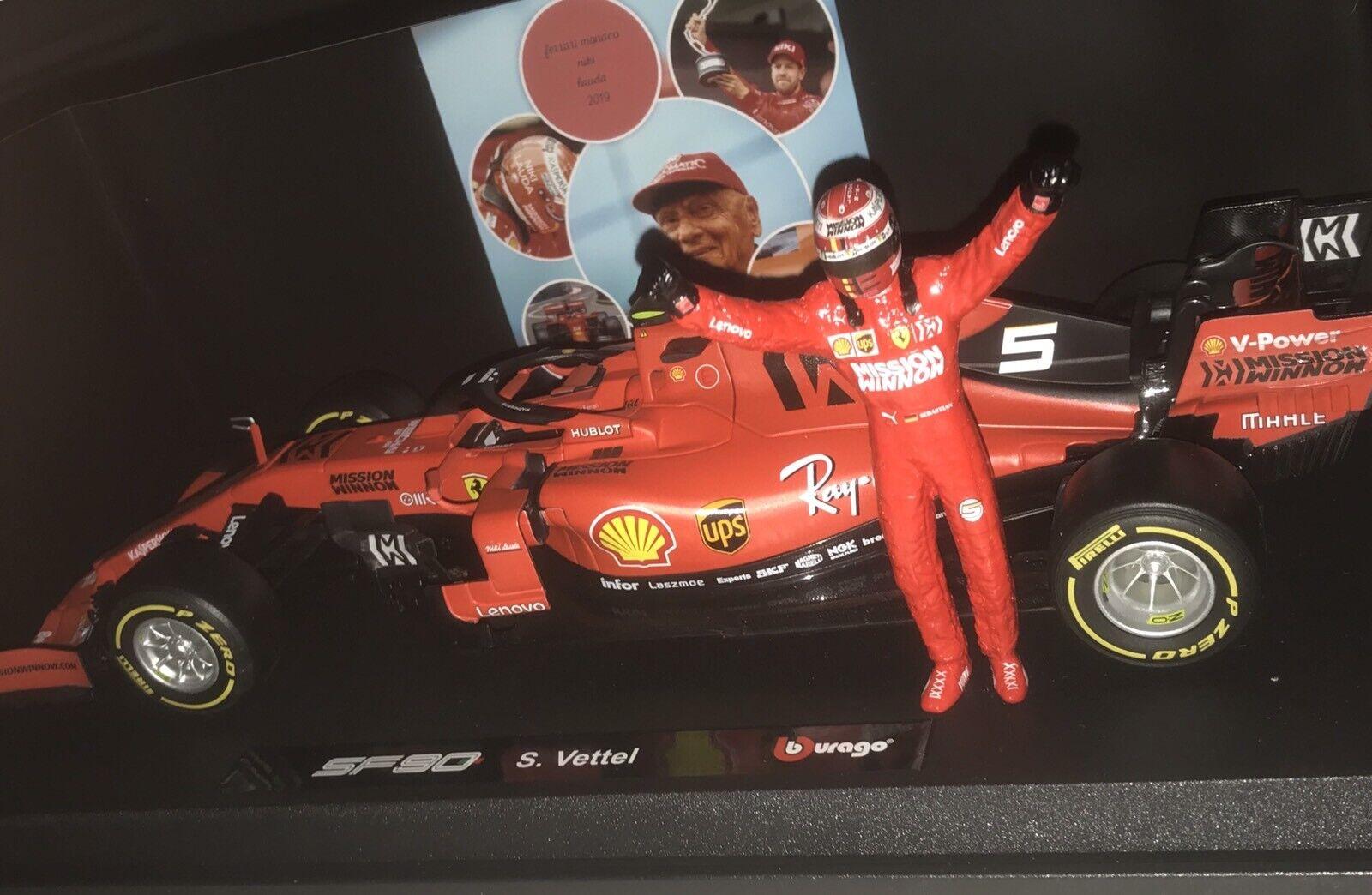 Ferrari SF90 Sébastien Vettel Monaco Gp Niki Lauda Winnow 1 18 Avec Sa Figurine
